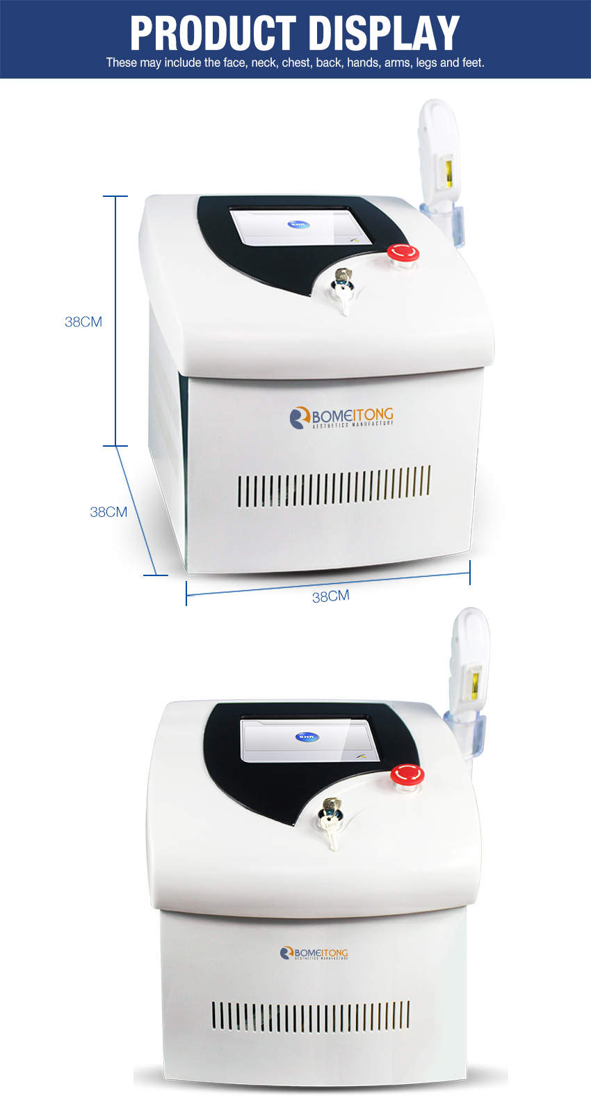 shr hair removal machine details
