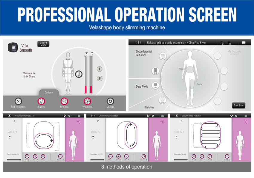 velashape machine screen