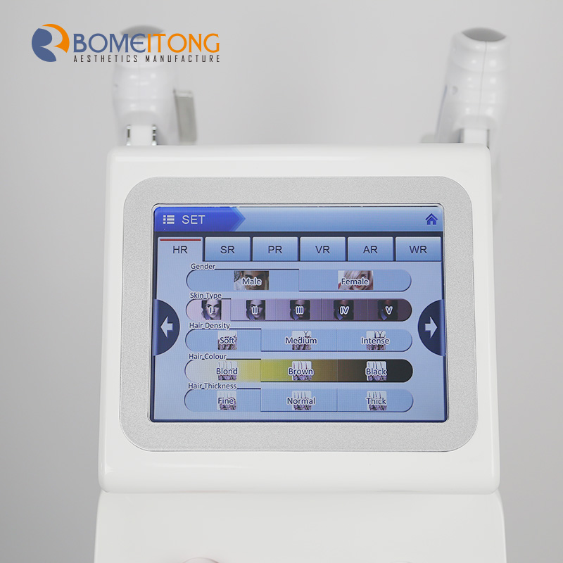 Ipl facial hair removal e-light shr machine acne Treatment
