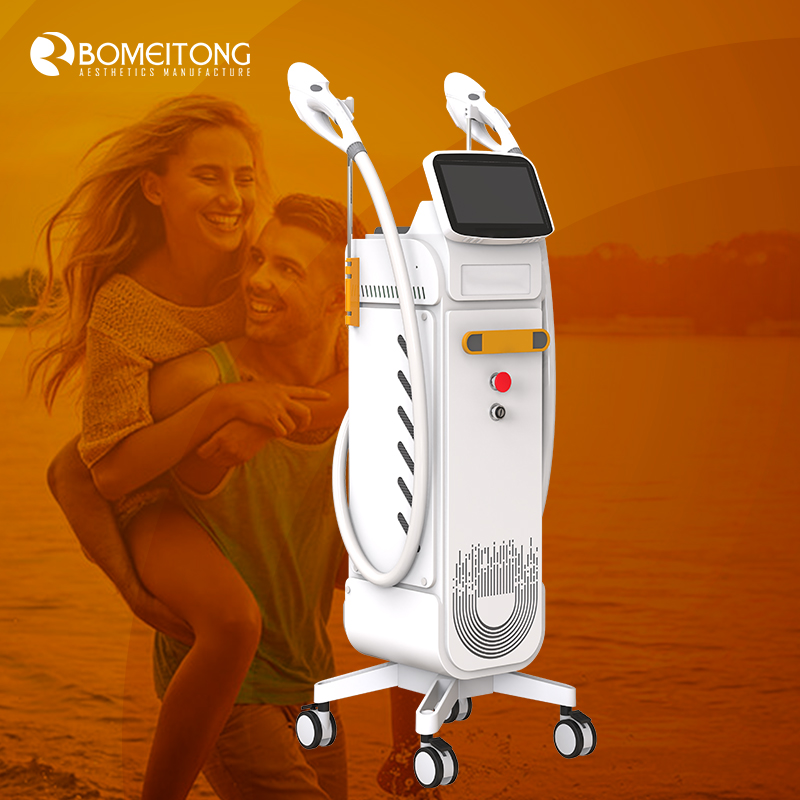 Professional ipl hair removal system Two handles intense pulse light opt shr pigment removal Permanent Painless Facial Skin Body
