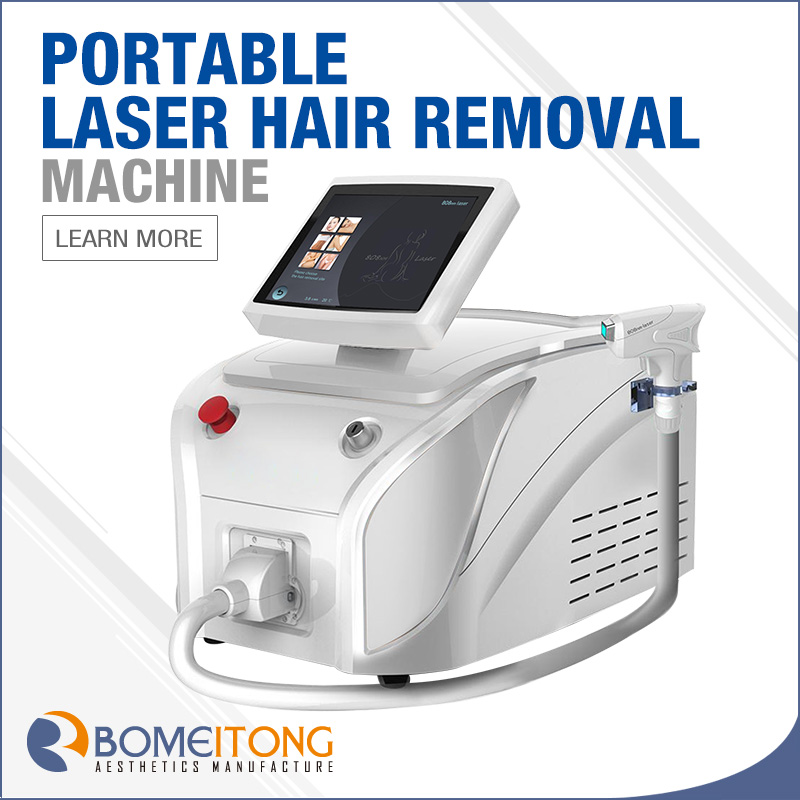 Portable 808 Diode Laser Hair Removal Machine
